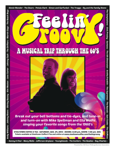 Feelin' Groovy! A Musical Trip Through the 60's, Saturday, August 24, 7:30pm